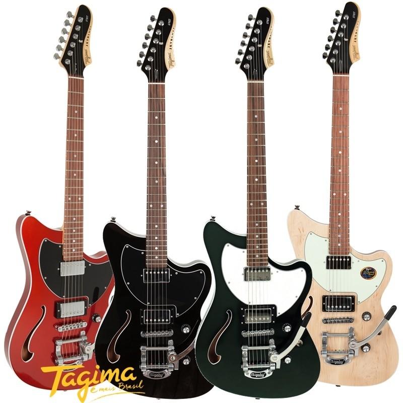 Guitarra Tagima Jet Blues Deluxe Semi Acústica Made in Brasil Com Bigsby