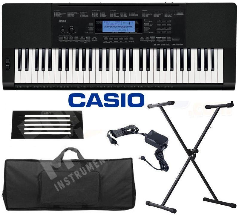 Kit Teclado Casio Ctk5200 61 Teclas + Suporte / Capa / Fonte