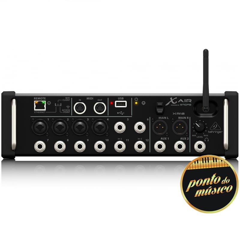 Mesa De Som Digital Behringer X Air XR12 12 Canais Mixer