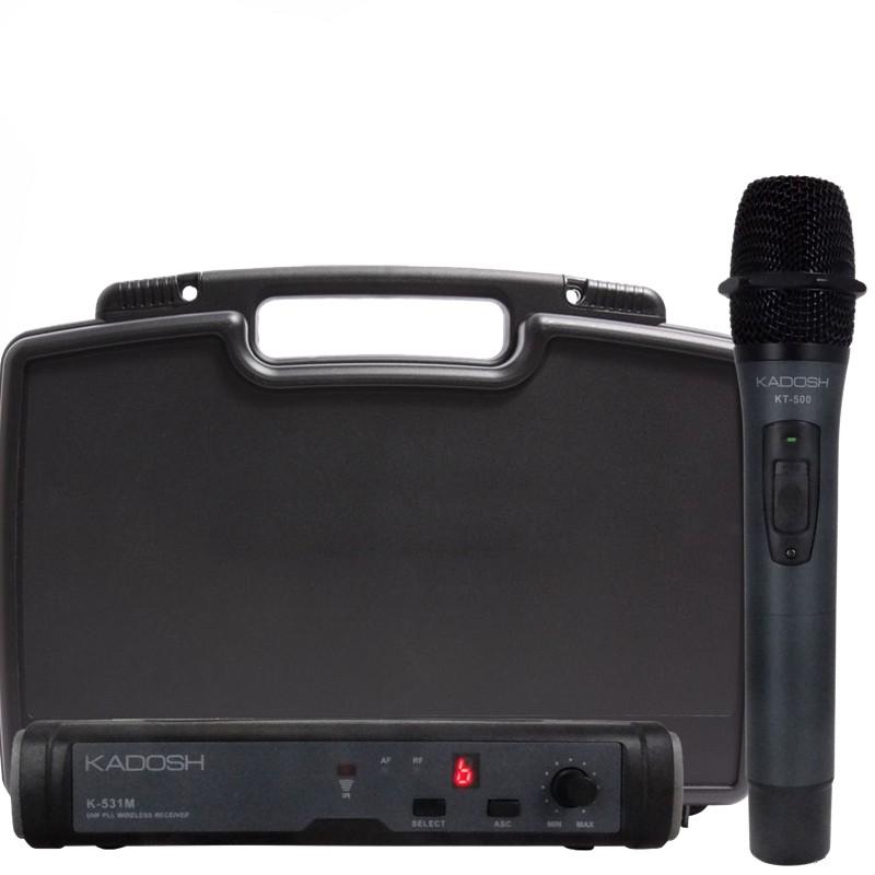 Microfone Duplo S/ Fio De Mão kadosh K531M Uhf