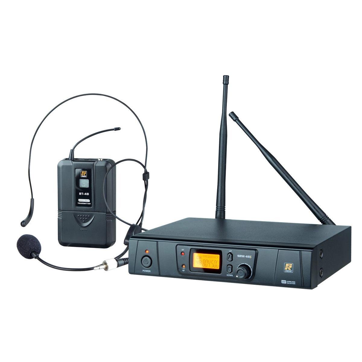 Microfone Sem Fio Headset Staner SRW48S Uhf Digital