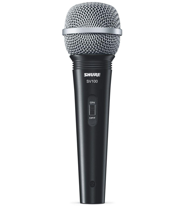 Microfone Shure Sv100 Vocal Dinamico C/ Cabo XLR P10