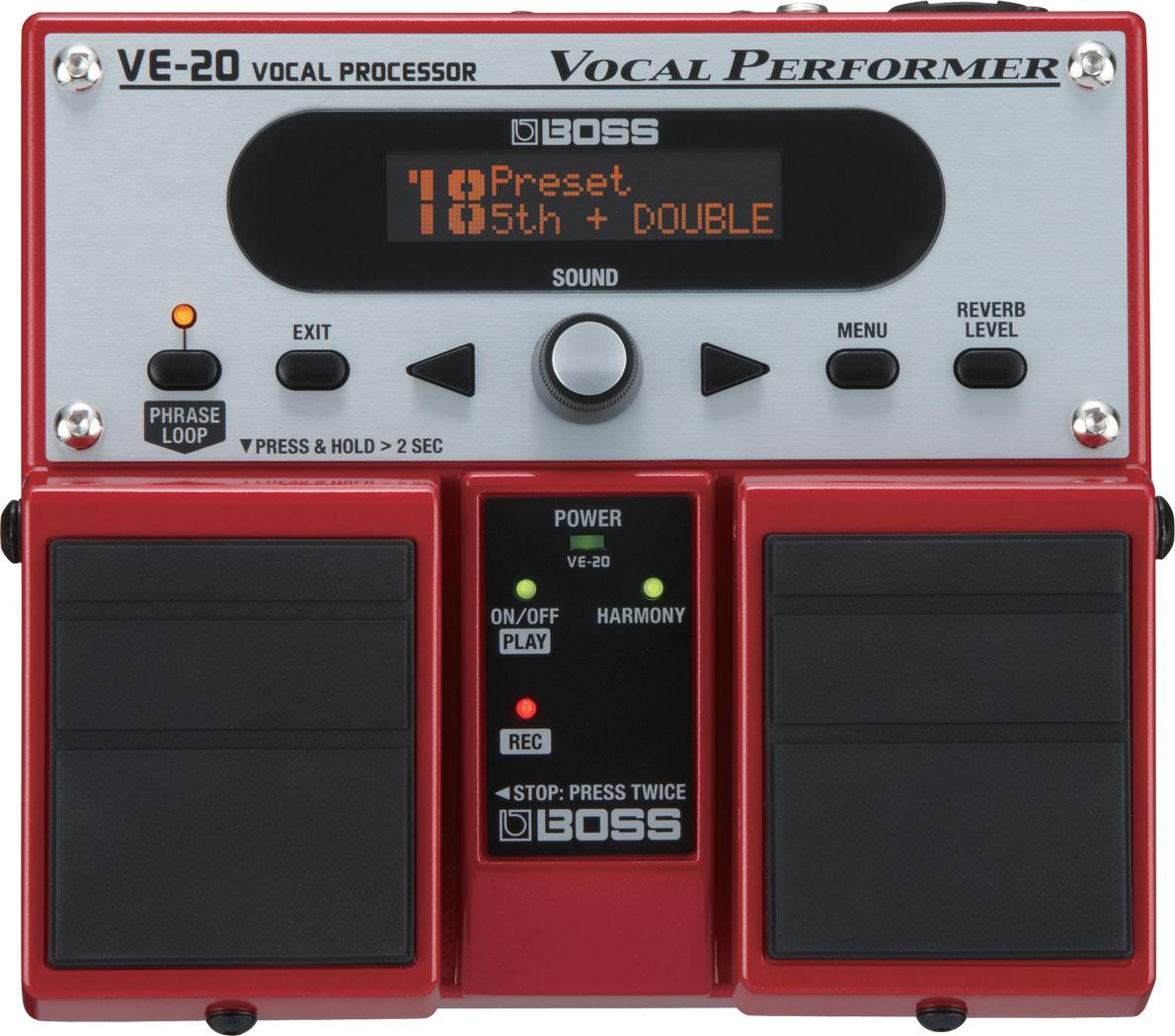 Pedal De Efeitos Para Voz Boss Ve20