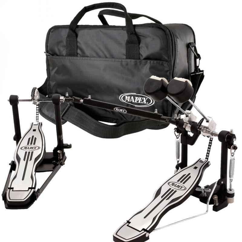Pedal Duplo De Bateria Mapex P501tw C/ Bag Luxo