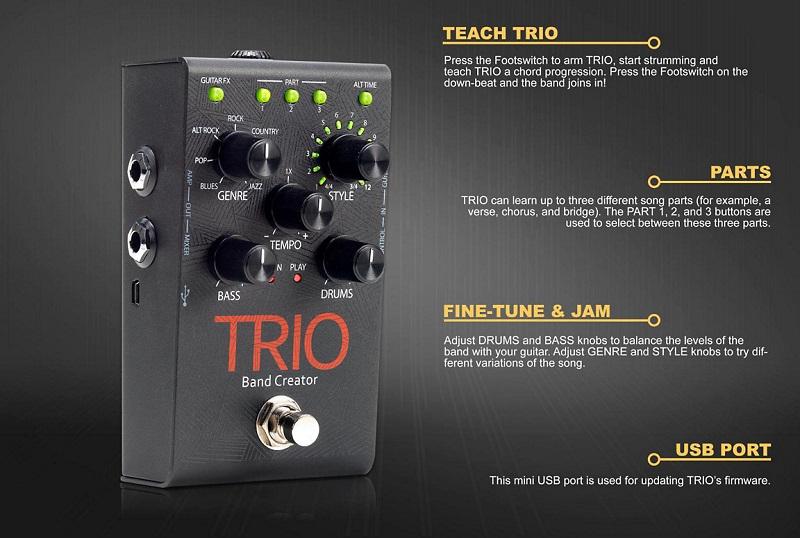 Pedal Loop Digitech Trio Band Creator C/ Fonte Original
