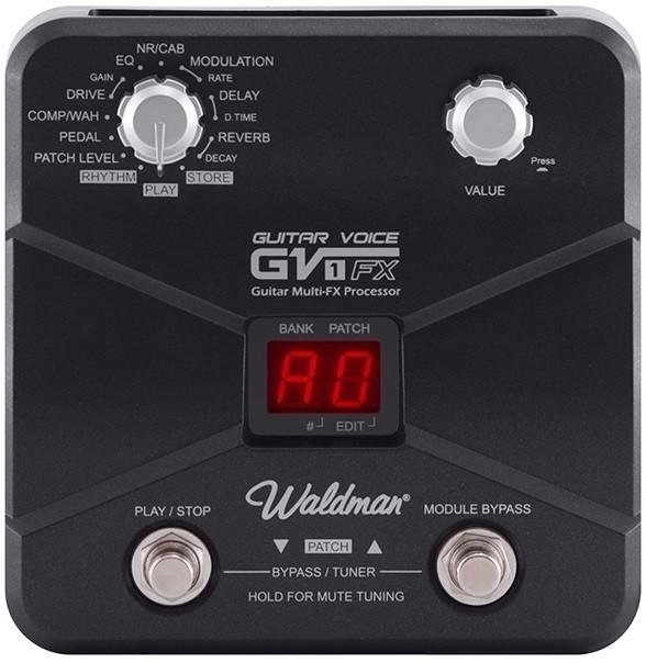 Pedaleira Waldman Guitar Voice Gv-1fx P/ Guitarra