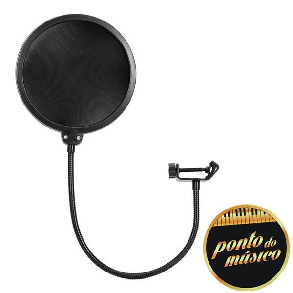 Pop Filter Konect Pf100 Para Microfone Estúdio