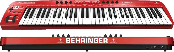 Teclado Controlador Behringer UMX610 Midi Usb 61 Teclas
