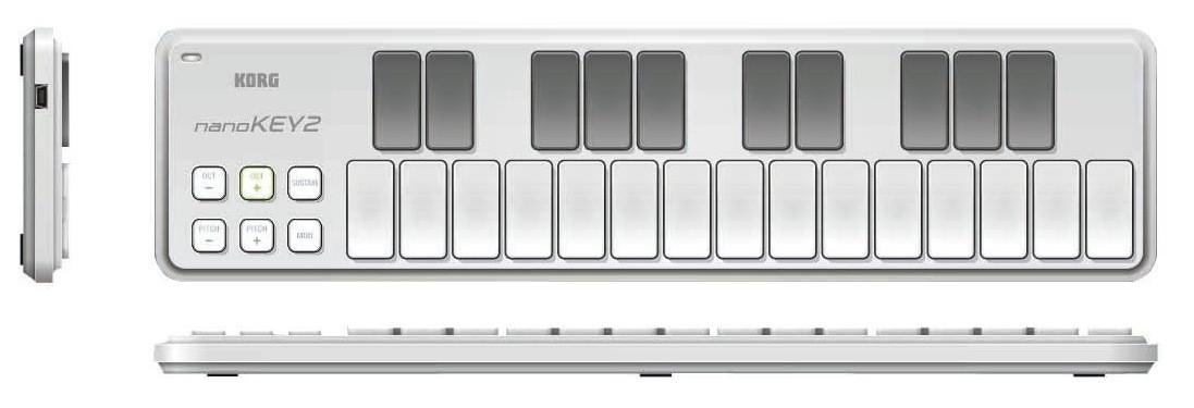 Teclado Controlador Pad Midi Usb Korg Nanokey 2
