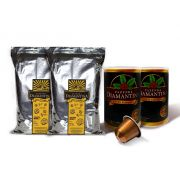 2 pcts de 500G Moído Gourmet + 20 cápsulas de 5g tipo Nespresso®