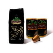 500G  Diamantina em Grãos + 20 cápsulas de 5g tipo Nespresso®