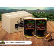 Café Diamantina Especial - cápsulas de 5g tipo Nespresso® - 2 Latas com 10 cápsulas cada