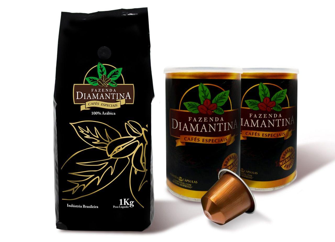 500G  em Grãos + 20 cápsulas de 5g tipo Nespresso®