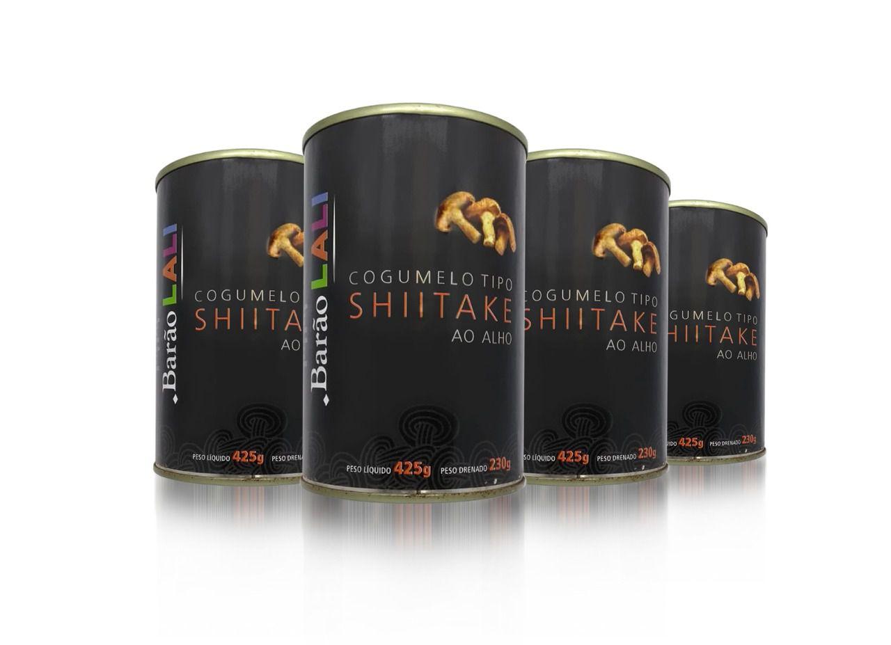 4 latas de Shitake em conserva Fatiado 230G