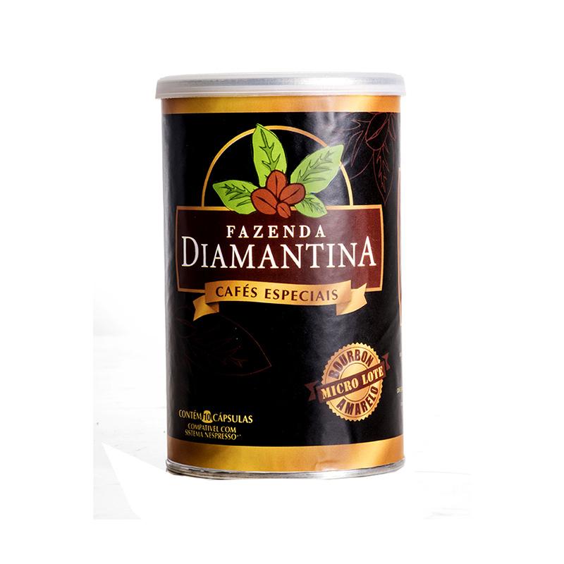 Café Diamantina Especial - cápsulas de 5g  tipo Nespresso® - Lata com 10 cápsulas