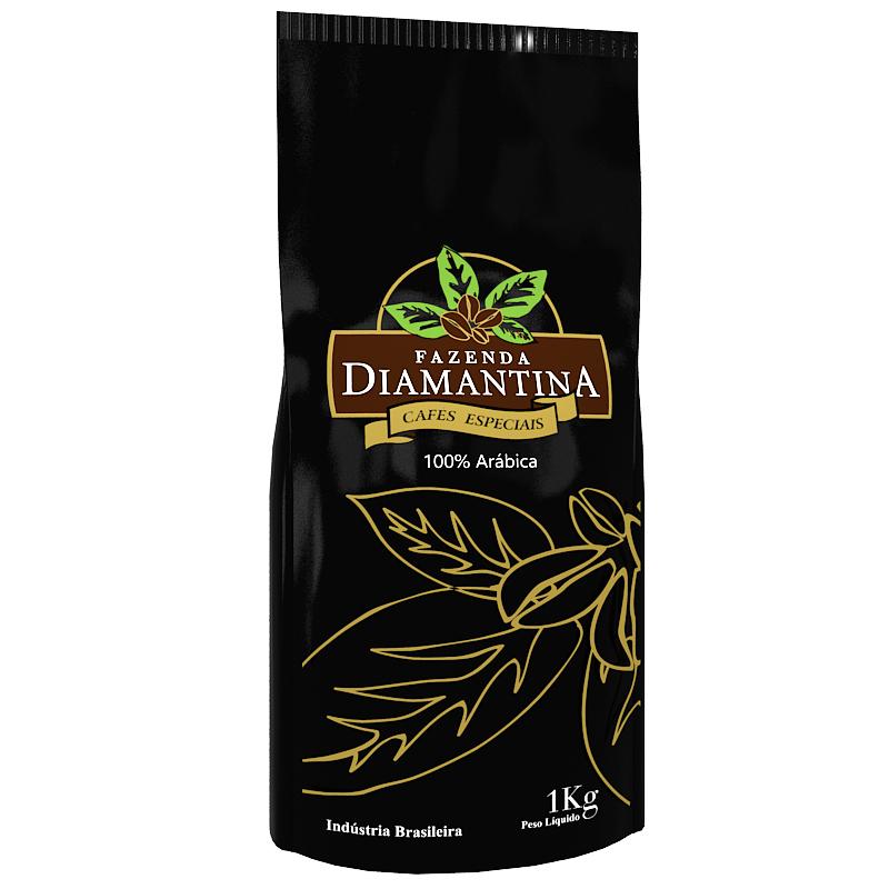 Café Diamantina Especial - Torrado em Grãos - Pacote com 1 Kg