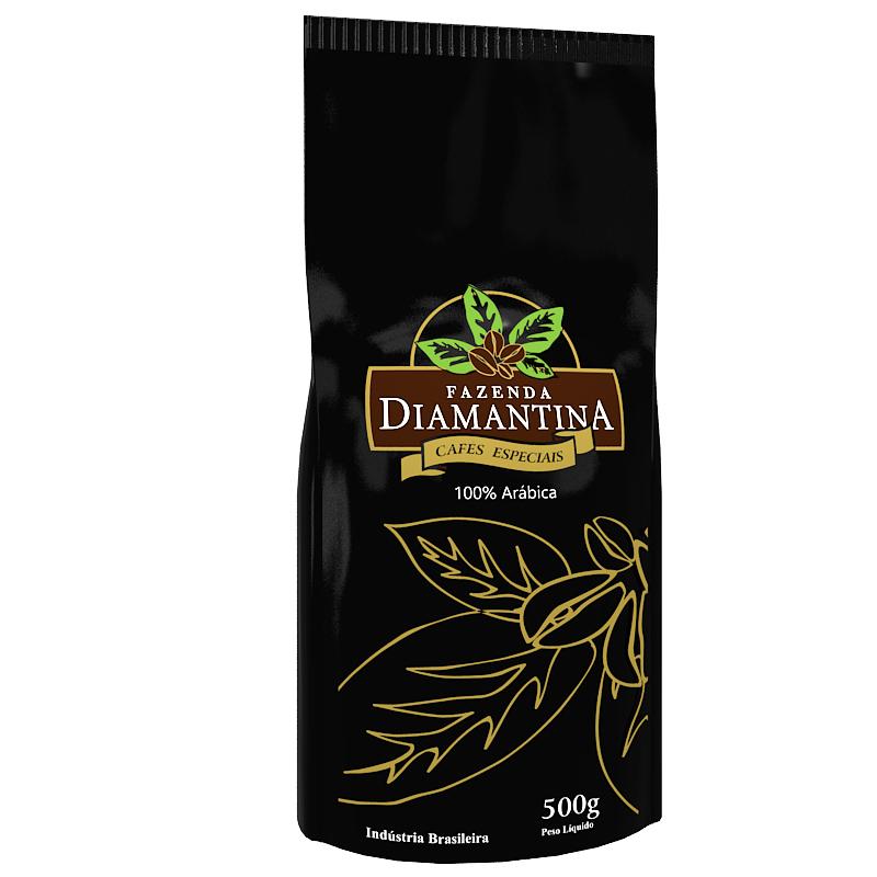 Café Diamantina Especial - Torrado em Grãos - Pacote com 500 g