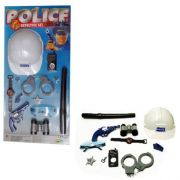 Kit Policial Fantasia Infantil Menino Criança Completo 9077