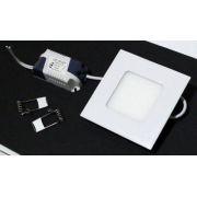 2231 Luminaria Embutir Led 3w Plafon Quadrada