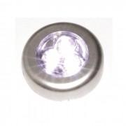 3020 5 Luminária De Toque 3 Leds Já Com Pilhas Armário Closet 3020