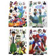 Cartela De Adesivos 3d E 5d Diversos Personagens Infantis