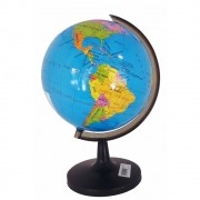 Globo Terrestre Mundial Geográfico E Político Com Países Oceanos Mini Continenti 16cm F-94804