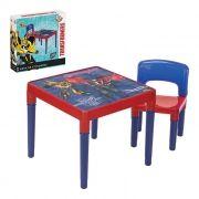 Jogo De Mesa Mesinha Com Cadeira Infantil Dos Transformers