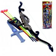 Kit Arco Flecha + Punhal 6 Pecas 55cm Hot Hero Bowma 9088