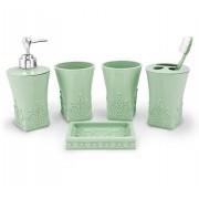 Kit Banheiro c/ 5 pçs AYJ17173-VE  Jacki Design