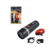 Kit De Bike Segurança Dianteiro Traseira Lanterna Com  Led 3081