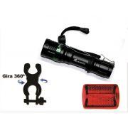 3082 Kit Farol Bike Led Lanterna Recarregavel + Lanterna traseira
