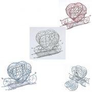 Mini Lembrancinhas Coração Carruage Aramado 7310