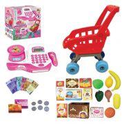 Mini Mercado Com Carrinho Caixa Registradora e acessórios 9142