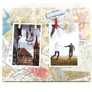 Porta Retrato Quadro Parede Paris 25x30 Varal 2 Fotos WX5413