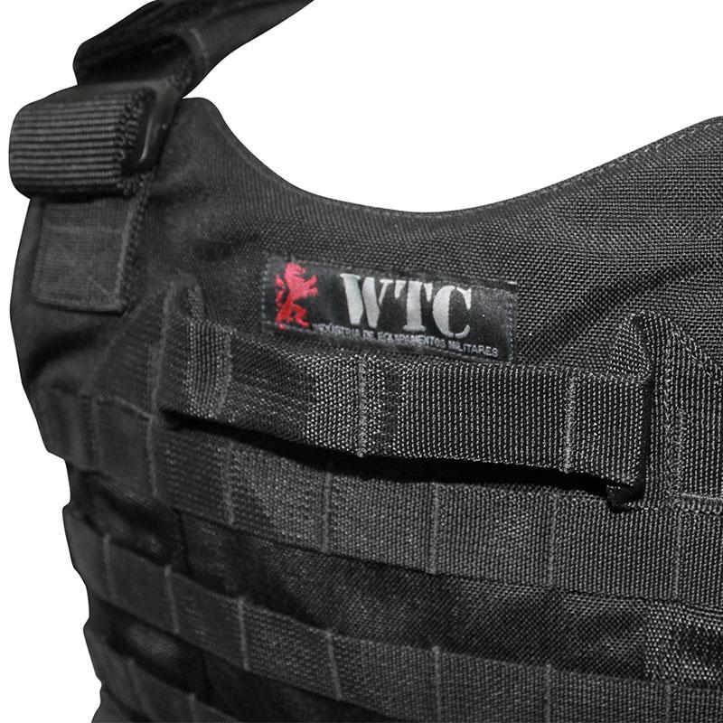 Capa de Colete Balístico III-A - WTC - Preto