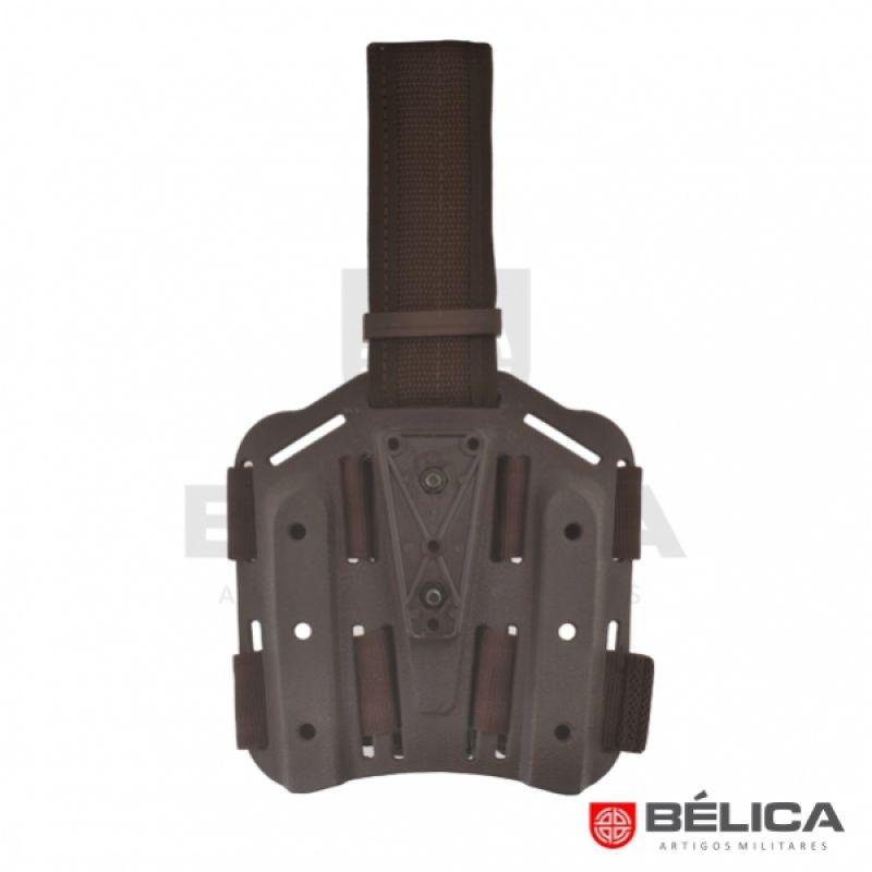 Plataforma de perna em Polimero - Belica - Marrom