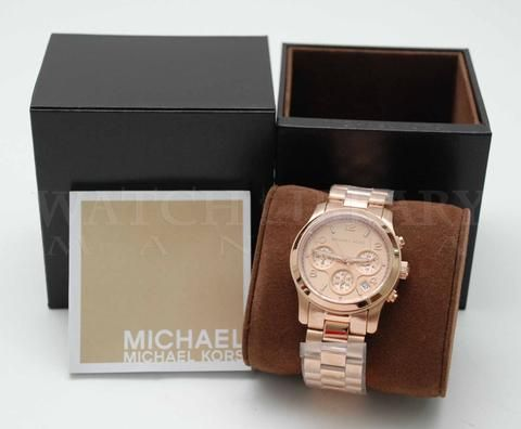 Relógio Michael Kors Mk5128 Runway Rose 38mm Original