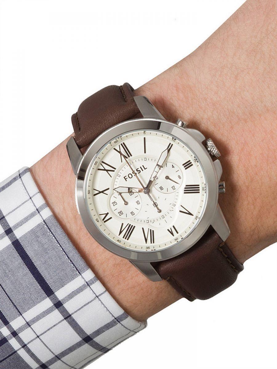 Relógio Fossil - Fs4735 - Analógico - Pulseira Em Couro Marrom