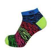 Par de meia sapatilha multicolor zebra