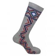 Par de meia cano médio fashion - Tribal mescla com azul
