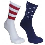 Par de meia Compressão Cano Médio - USA Flag