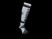 Par de meia de compressão anatômica  - Running listra preto c/ cinza