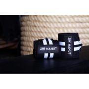 Wrist wraps elásticos - Munhequeira preto e branco