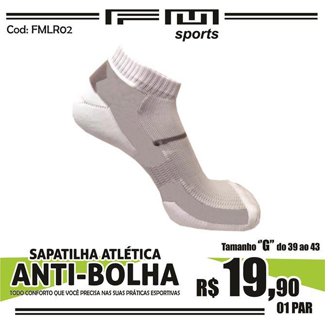 MEIA ATLÉTICA ANTI-BOLHA BRANCO G