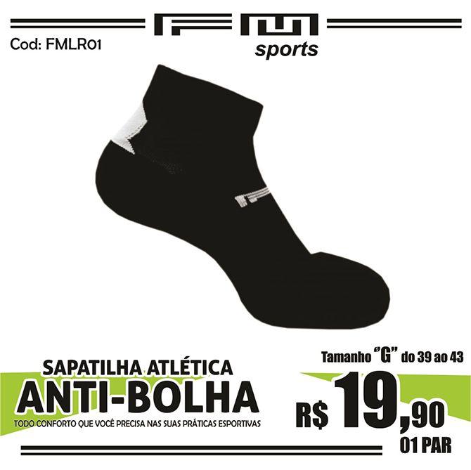 MEIA ATLÉTICA ANTI-BOLHA PRETO G