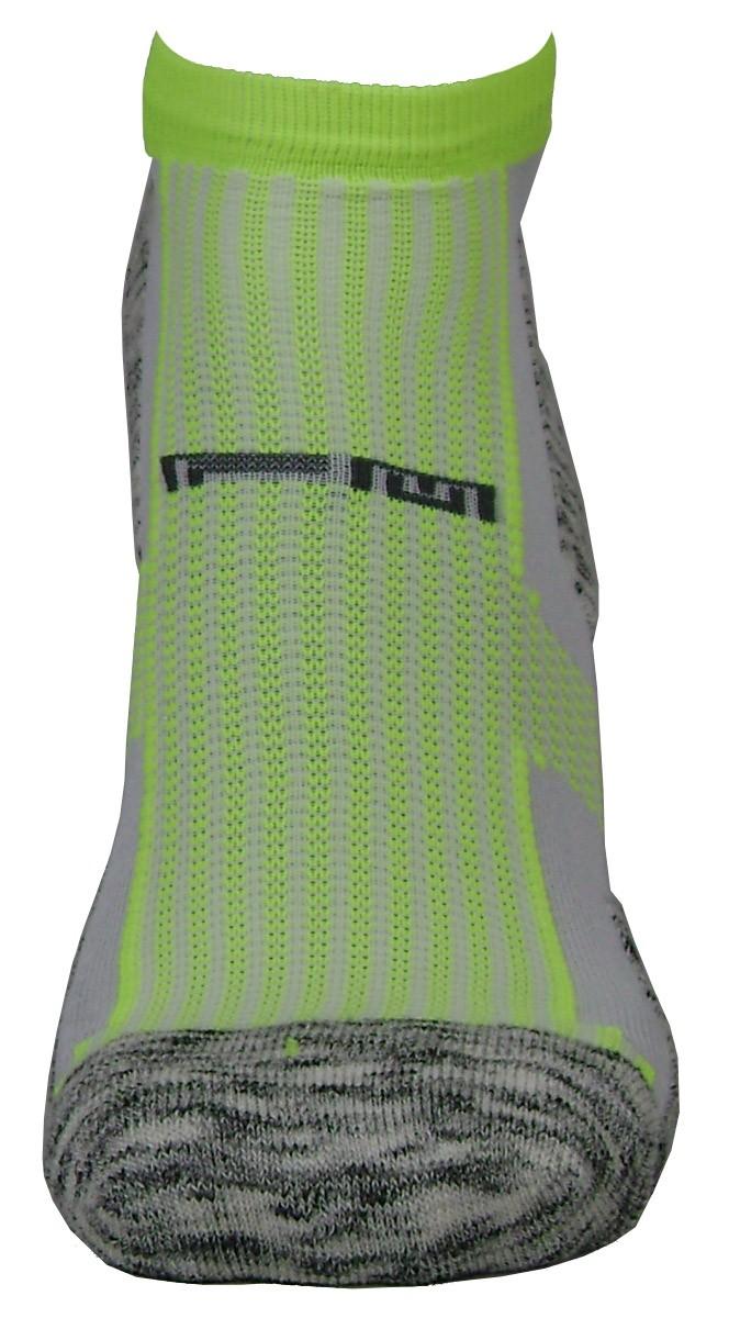 Par de meia atlética  - Flocada com amarelo neon