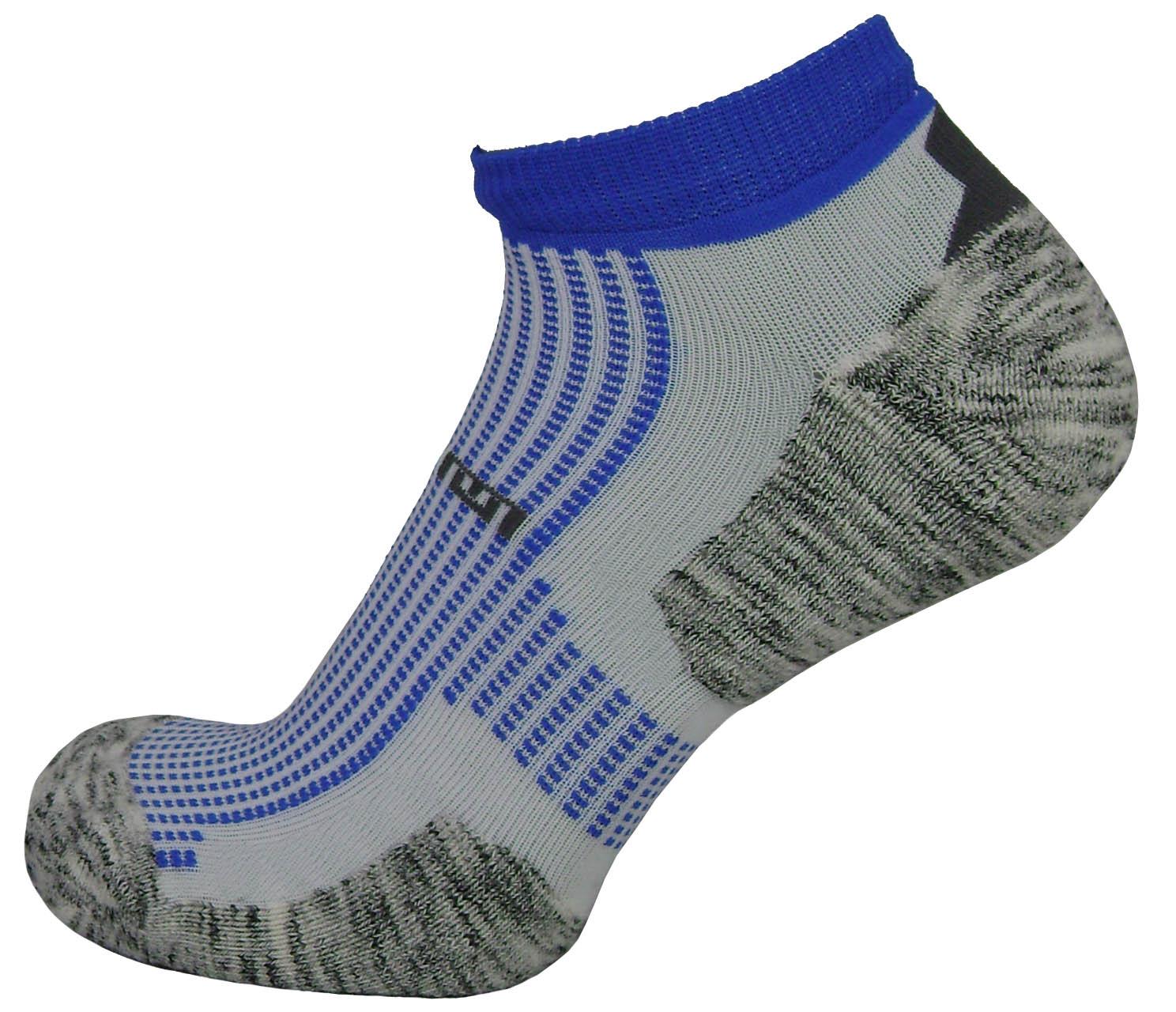 Par de meia atlética  - Flocada com azul royal