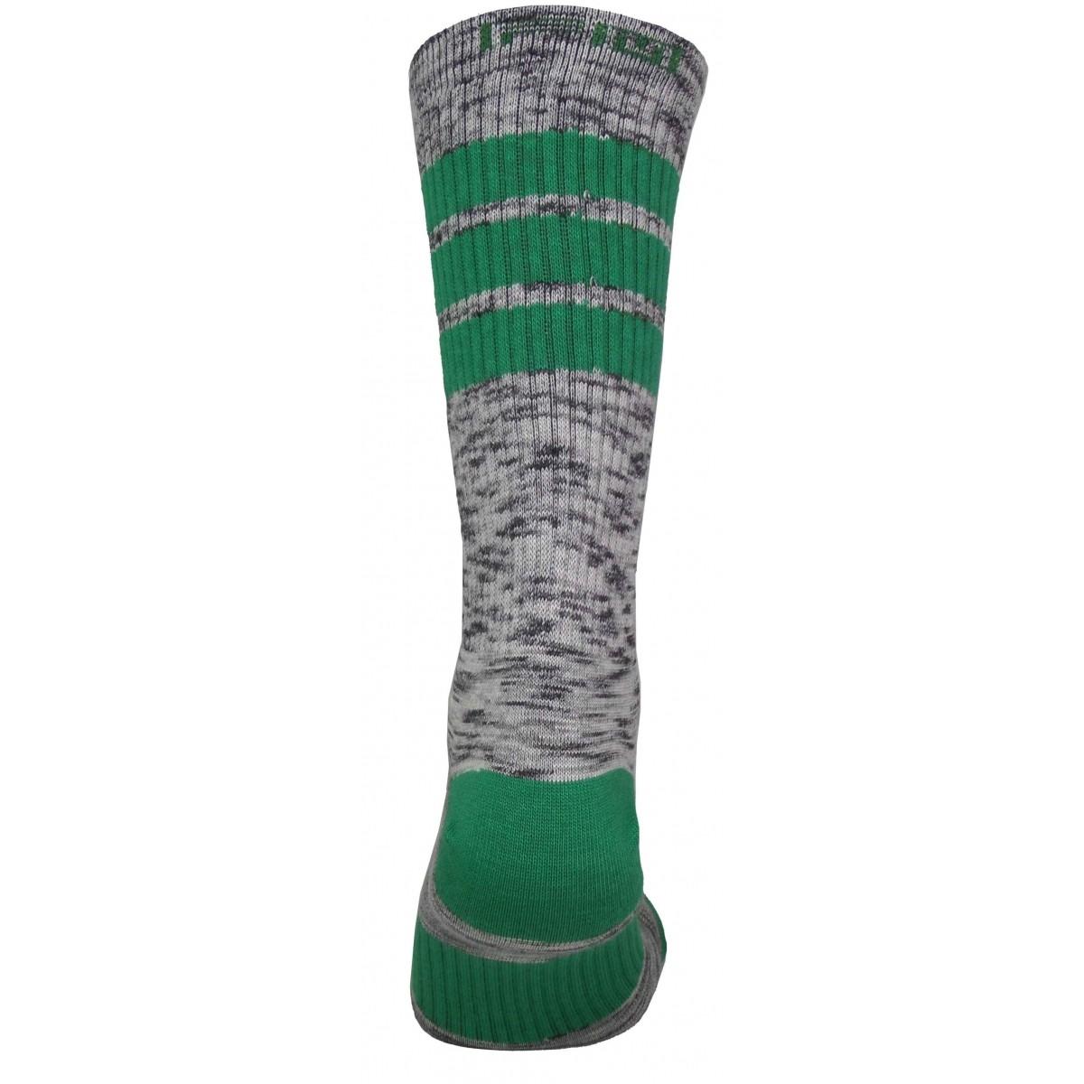 Par de meia cano médio fashion - Flocada colorida verde