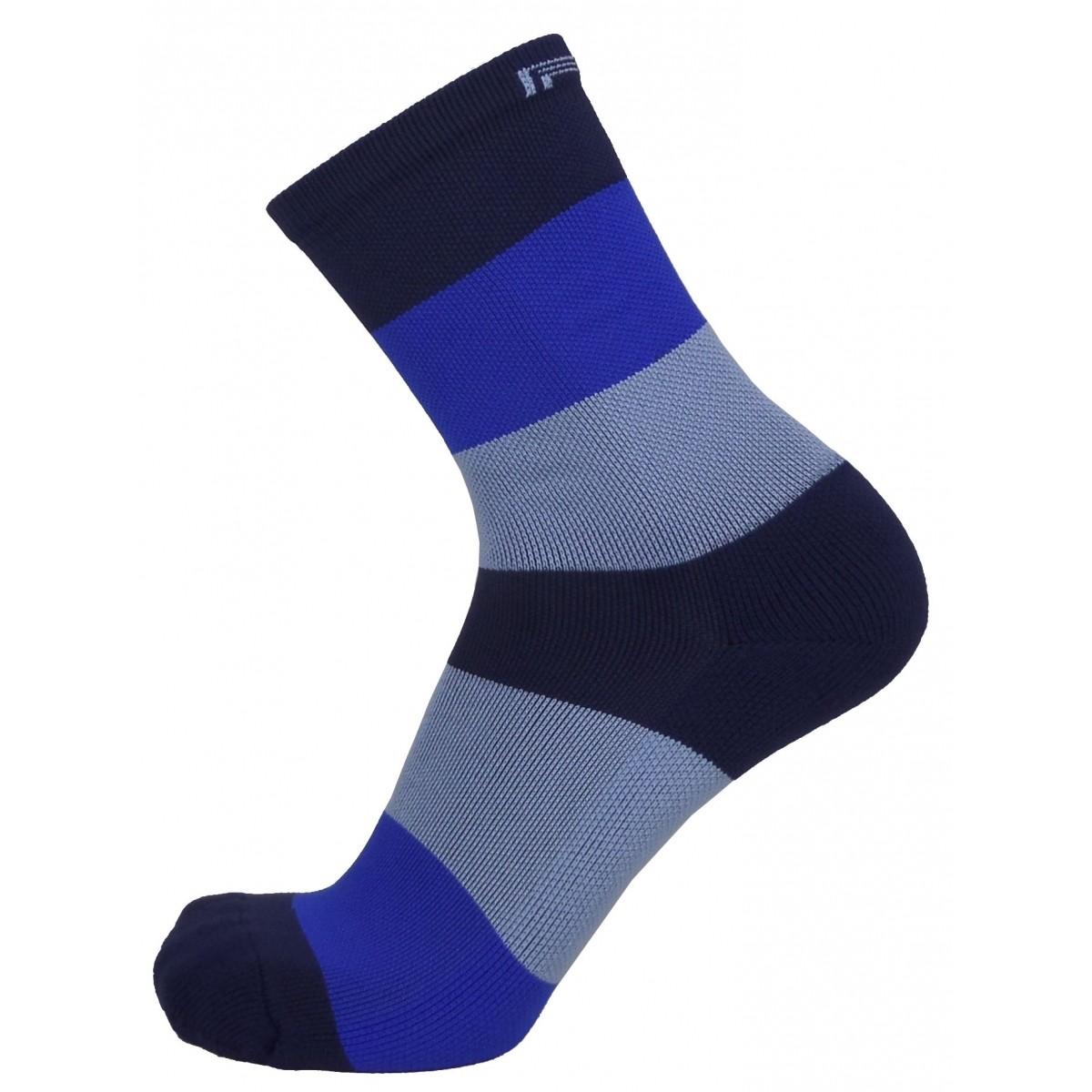 Par de meia Compressão Cano Médio  - Barrado degradê azul
