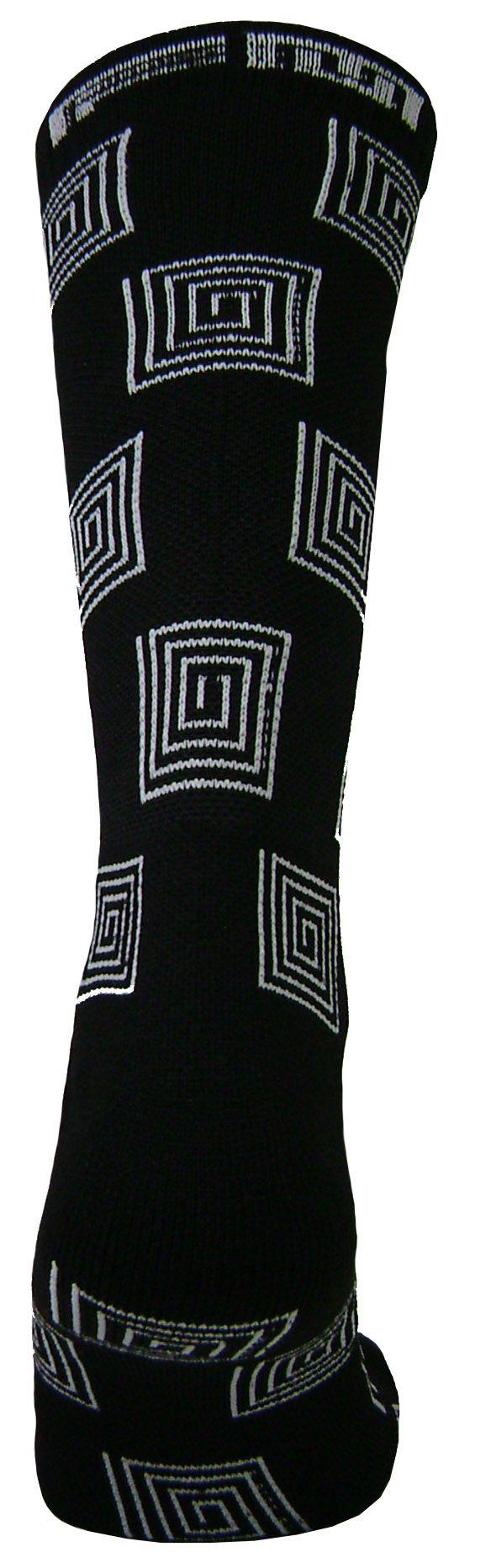 Par de meia Compressão cano médio  - Espiral preto com branco
